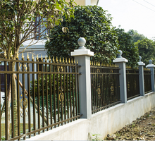 2018 Good quality colors house gate designs and Wrought iron fence / steel fence/aluminum terrace
