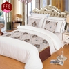 100% egyptian cotton satin fabrics bed sheet designs with luxury bed runners