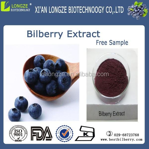 Factory supply bilberry extract from fresh bilberry