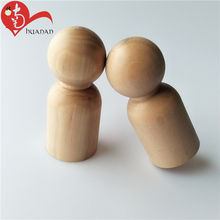 custom natural unfinished wooden doll bodies for arts