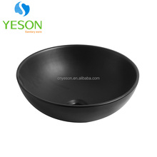 RS-1450B Luxury black colored ceramic countertop wash basin designs in india with price