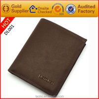 Wholesale brown handcrafted leather mens large wallets