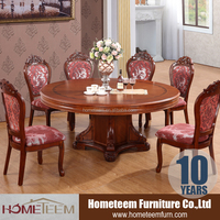 Round dining table with chairs import furniture from China