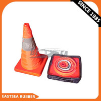 Wholesale Orange ABS Collapsable Traffic Safety Cone