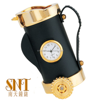 luxury golden desk clock for corporate gift wholesale gift items kettle