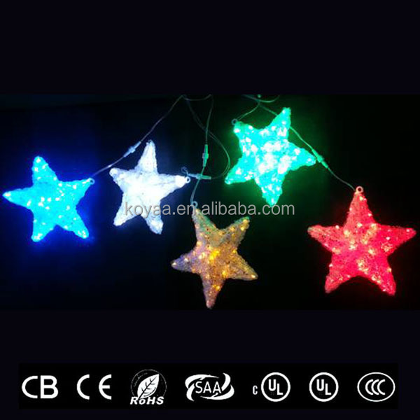 designer lamp in stars shape design from china led light manufacturer