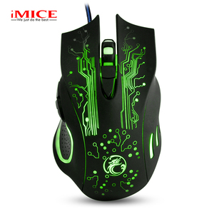 Apedra High sensitive USB wired led lighting gaming mouse Optical 2400 DPI laptop PC USB mousegame mouse