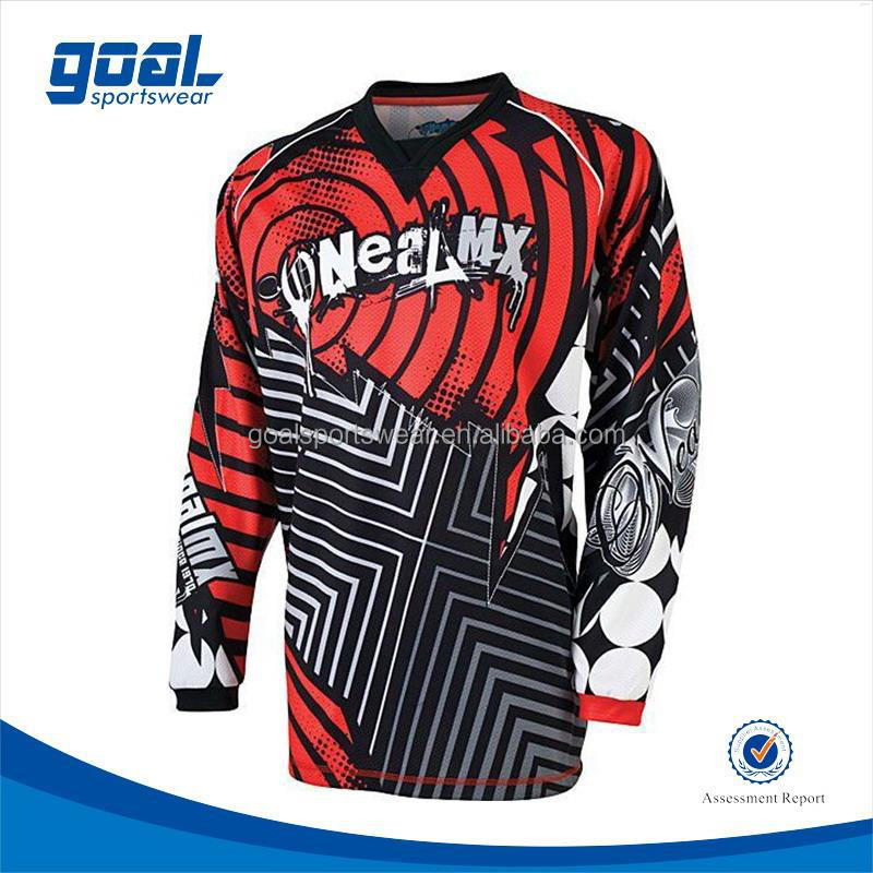 Latest design plus size dry fir motocross jersey motocross