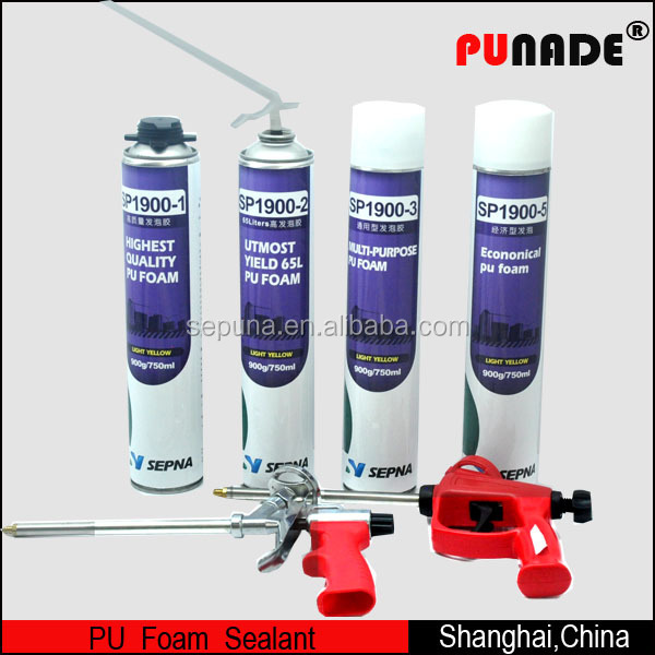 750 ml High Quality ecnomical PU Foam sealant , general purpose expanding construction PU foam