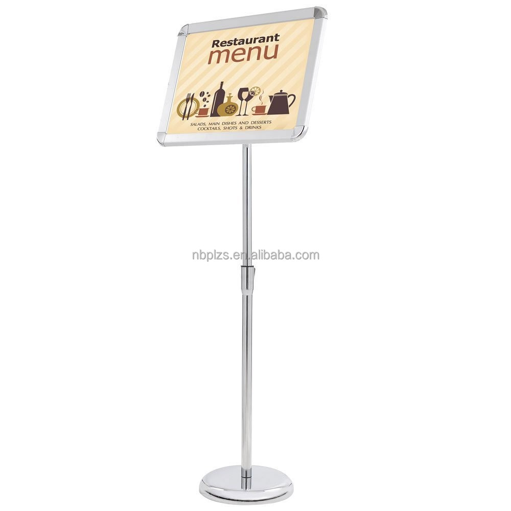 multi-position height adjustable portable sign holder 11''*8.5'' poster display menu stand