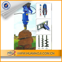 hydraulic post hole auger digger