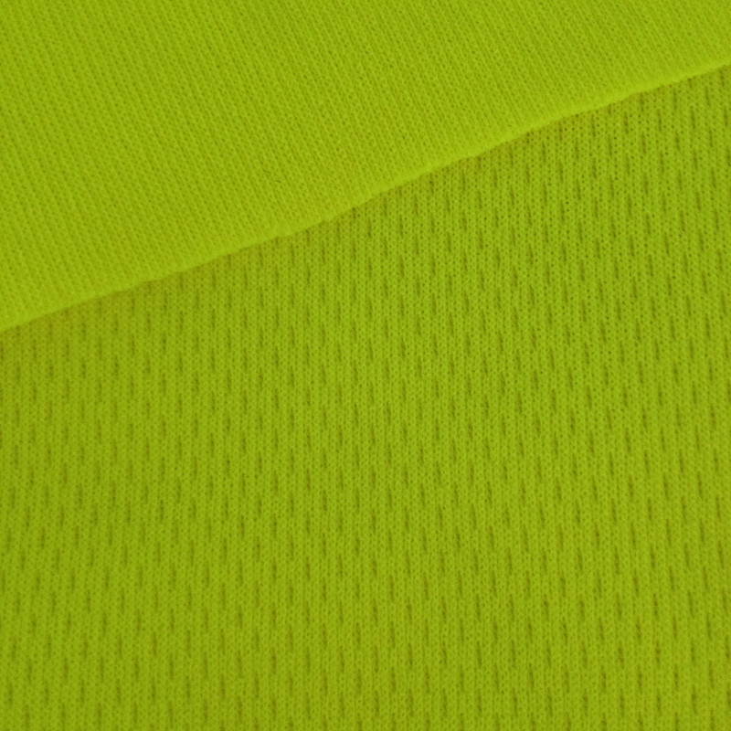 shiny fluoescent breathable sport wear Tricot Mesh Textile