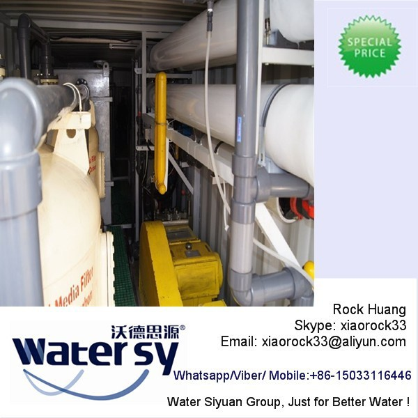 Professional containerized salt water treatment/seawater desalination plants