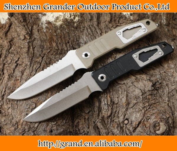 <strong>G10</strong> Handle high quality folding survival knife D2 steel camping rescue tactical pocket knife 5956