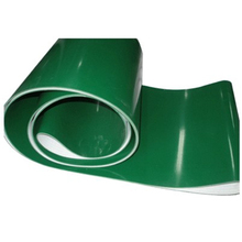 Portable greenPVC inclined conveyor belt with explosion-proof protect feature