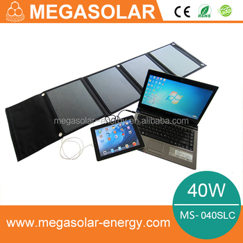 40w Portable Solar Chargers for laptop and mobile phone