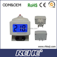 2014 newest Brand New Dm55-1 Blue Lcd Digital Volt Voltage Meter LedPlug-Typc digital sharp building services training