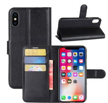 Cheap Price Mobile Cover Leather Wallet Cell Phone Case Card Holder For Iphone 7 For Iphone X