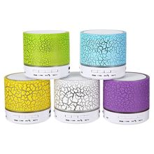 LED Mini Wireless Bluetooth Speaker A9 USB FM Portable Sound Box Subwoofer Loudspeakers Support TF Card with Microphone