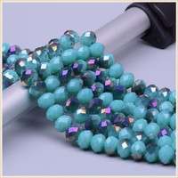 Cheap sea glass beads for chandelier,fancy hollow glass beads wholesale