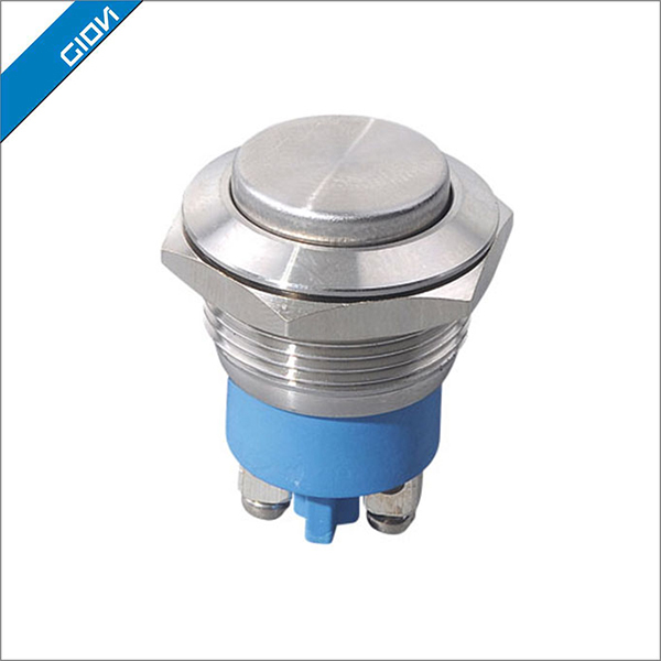 Anti-vandal metal push button switch, waterproof stainless steel pushbutton