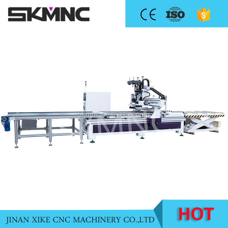 Spindle moulder cnc woodworking machine for furniture nesting cabinet and door production line