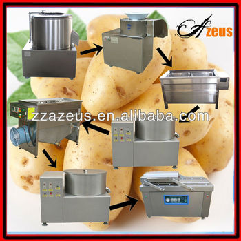 100kg/h economic snack factory to produce frozen potato chips/french fries making plant factory
