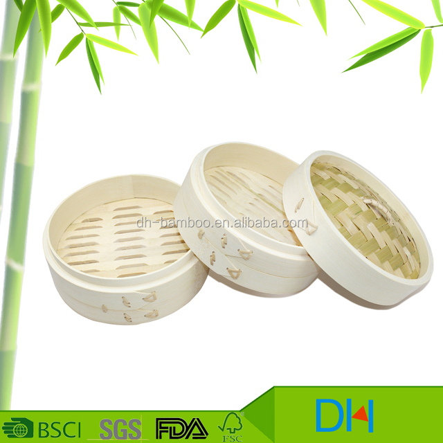 Popular Cheap 8 inch Bamboo Round Steamer for kitchenware