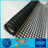 Warp knitting PVC coated polyester geogrid