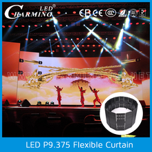 Indoor use led light black curtain/led light stage curtain for wedding