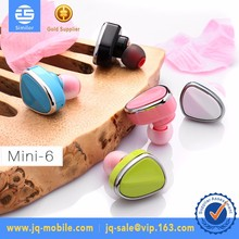 2017 hot sell Invisible Style Bluetooth 4.1 Earphones Mini Wireless Earbuds for samsung s8