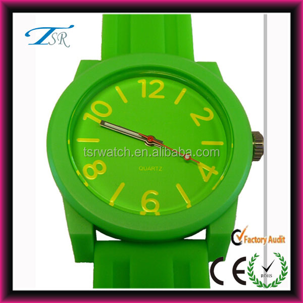 hot sale online silicone band girl watch with high quality from shenzhen