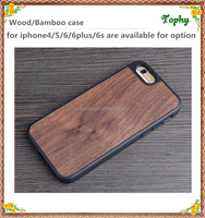 Wooden Case for iPhone 6 and 6 plus Natural Wood Coated PC TPU Hybrid Hard Case Cover for iPhone 6 4.7 and 5.5 inch