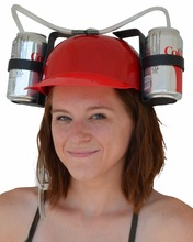 Custom Drinking Beer Helmet Drinking Hats With Straw And Beer Holder Custom Creative Party