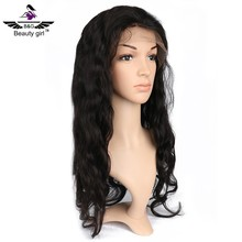 Body wave free sample wig good bulk hair for wig making real human hair full lace sew in wig