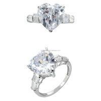 14k white gold ring main stone design wedding engagement ring