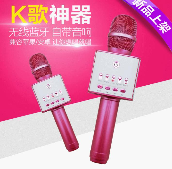 Portable KTV Mini Karaoke wired Mini wireless microphone with bluetooth speaker