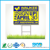 Corrugated Plastic Yard Sign with H Stakes