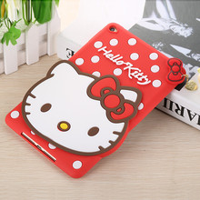 Rubber Hello Kitty Cat DesignTablet Covers Shockproof Case for Ipad