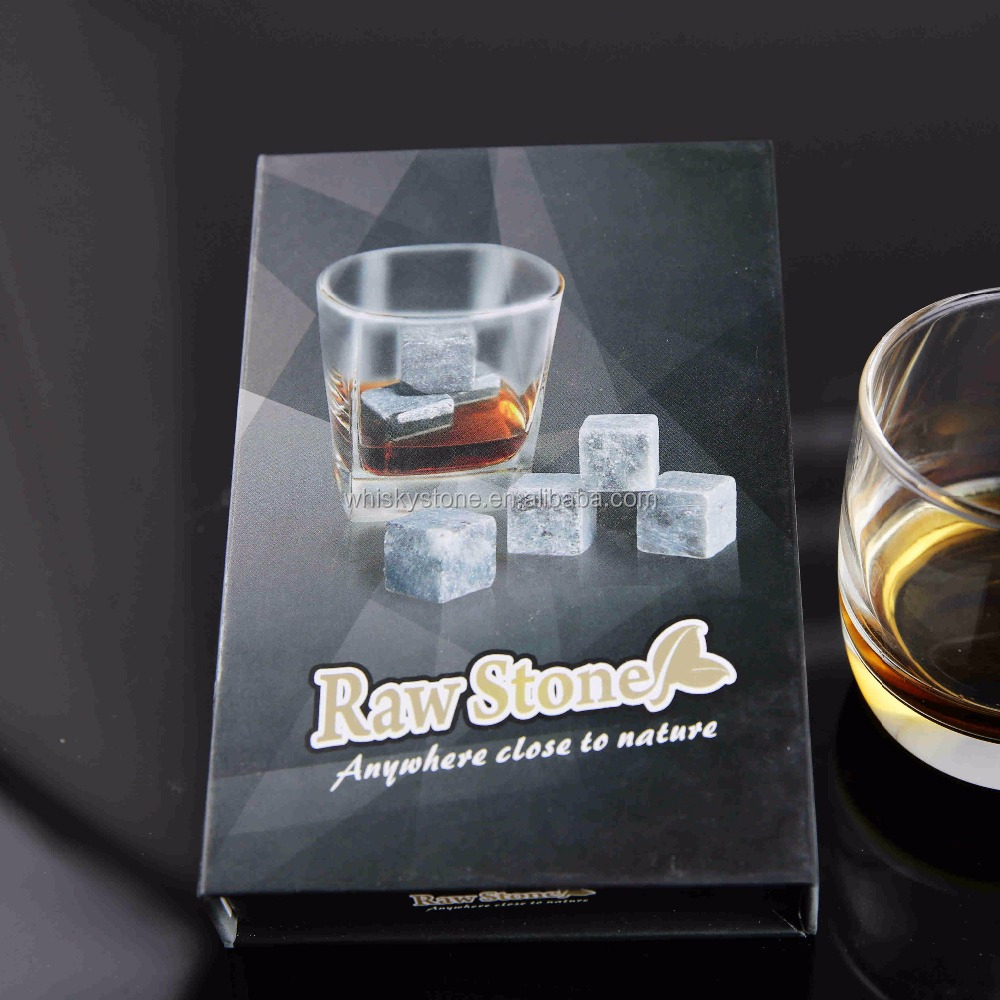 Wholesale whiskey Ice cube stone with gift box