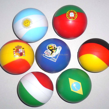 2018 World Cup Promotional Country Flag Color Squeeze PU Foam Anti Stress Balls