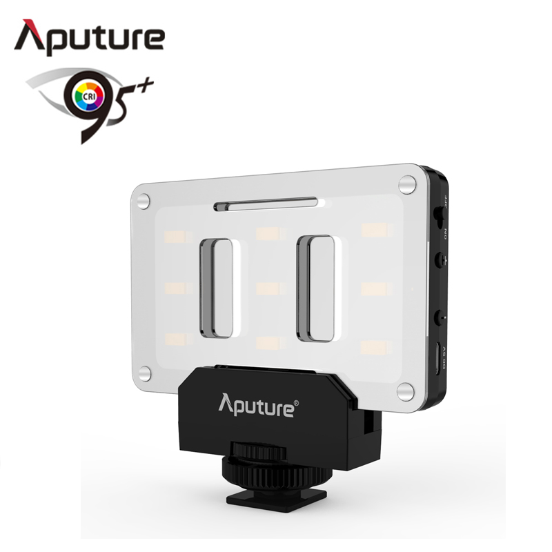 Aputure AL-M9 Lighting Up CRI/TLCI 95+ 9 SMD bulbs 9 Steps Dimming 5500K Max 900lux Internal Battery Pocket Sized LED