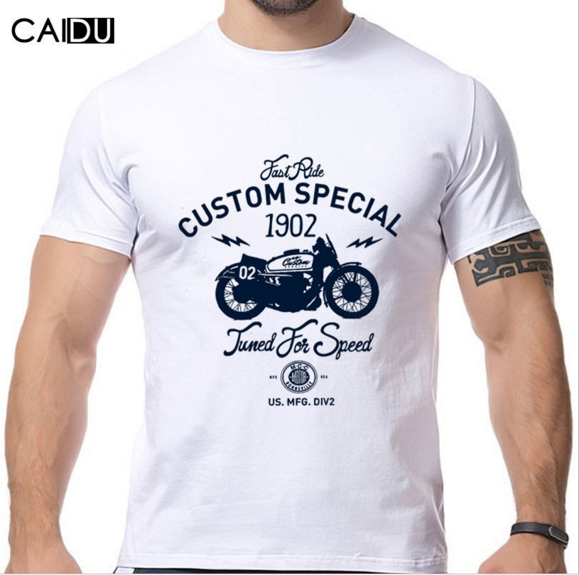 New start motorcycle printing new fashion cotton t-shirts with short sleeves