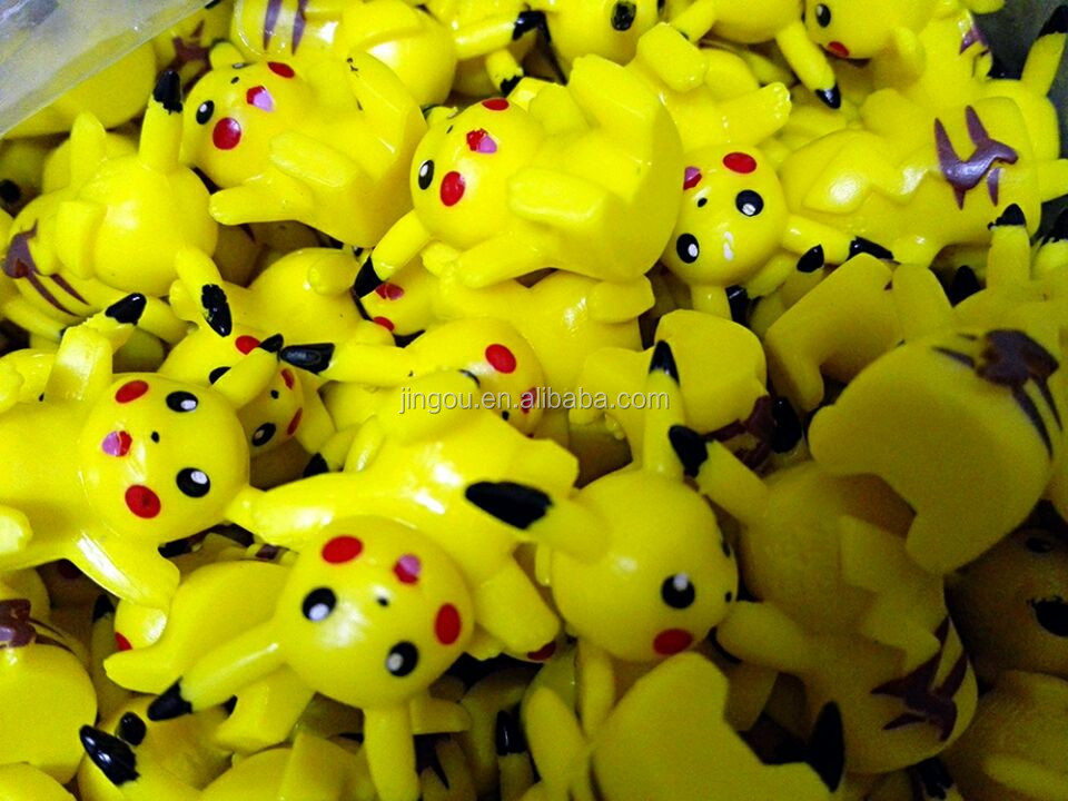 Plastic Pokemon Mini Figures For Empty Toys Capsule