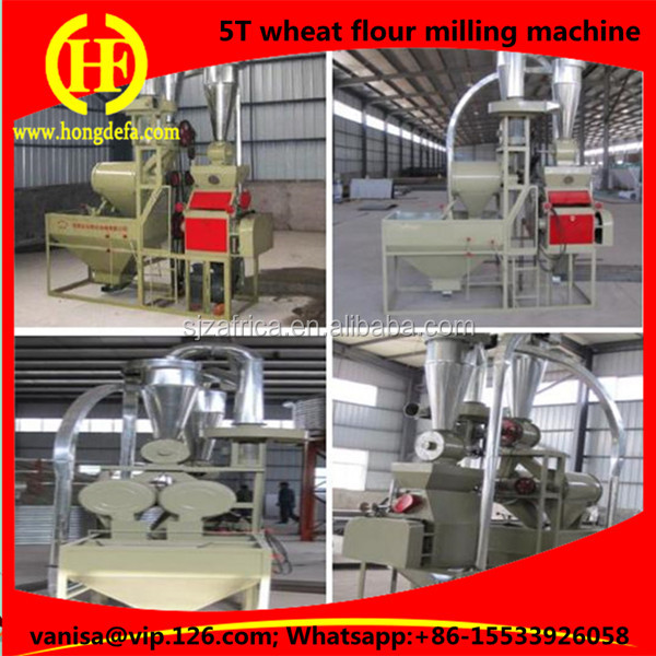 Process 5 Ton Per Day Wheat Milling Flour Production Plant