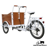New design pedal 3-wheels cargo tricycle for sale.