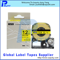 Yellow Label Labelworks And Trade Iron-on Fabric Lc Tape Cartridge 12mm For Lw300 Lw400 Label Maker