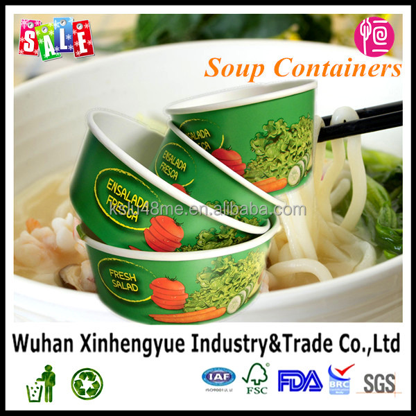Disposable Hot Soup Deep Paper Bowl/Fast Food Restaurant Food Container