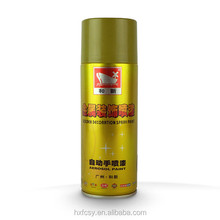 Golden decoration spray paint with metal decoration