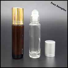 High Quality Wholesale10 ml Clear Glass Roller Bottle Perfume Bottles with Glass Roller Ball, Clear Flint Roll On Bottles